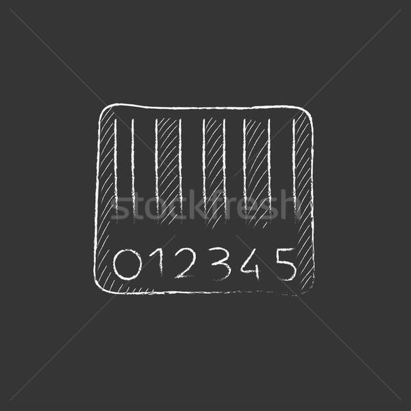 штрих мелом икона рисованной вектора Сток-фото © RAStudio
