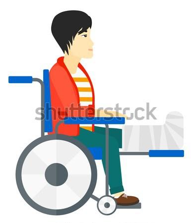 Patient sitting in wheelchair. Stock photo © RAStudio