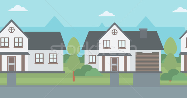 Background of suburban houses. Stock photo © RAStudio
