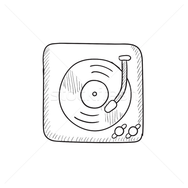 Turntable sketch icon. Stock photo © RAStudio