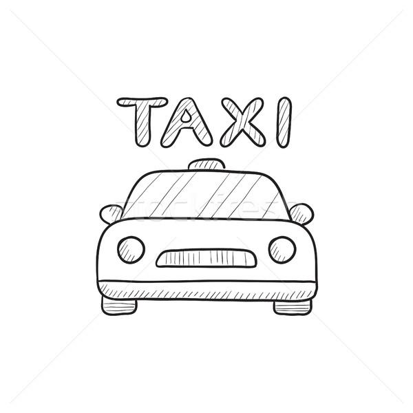 Taxi boceto icono vector aislado dibujado a mano Foto stock © RAStudio