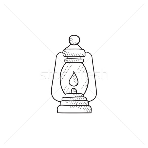 Camping lantern sketch icon. Stock photo © RAStudio
