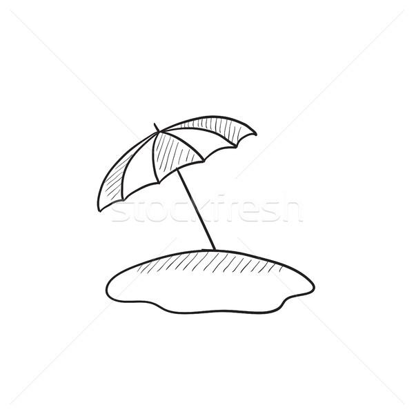 Ombrellone sketch icona vettore isolato Foto d'archivio © RAStudio