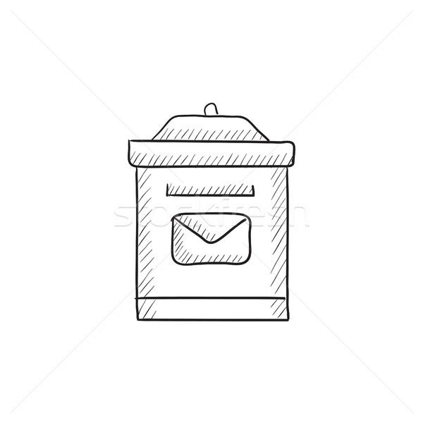 Postaláda rajz ikon vektor izolált kézzel rajzolt Stock fotó © RAStudio