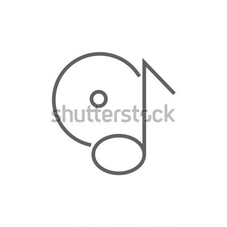 Note with disk sketch icon. Stock photo © RAStudio