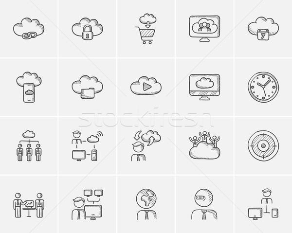 Technology sketch icon set. Stock photo © RAStudio
