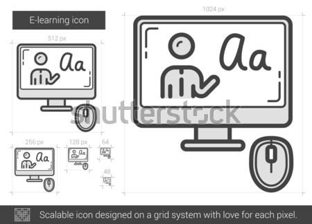 Line ikona wektora odizolowany biały Zdjęcia stock © RAStudio