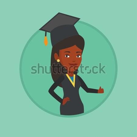 выпускник большой палец руки вверх африканских окончания Сток-фото © RAStudio