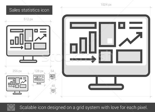 De vendas estatística linha ícone vetor isolado Foto stock © RAStudio