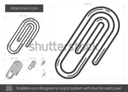 Attachment line icon. Stock photo © RAStudio