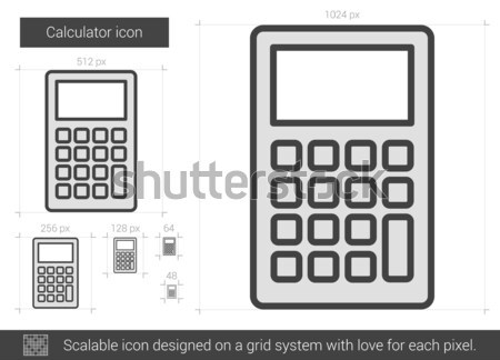 Calculator line icon. Stock photo © RAStudio