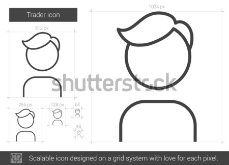 Trader line icon. Stock photo © RAStudio