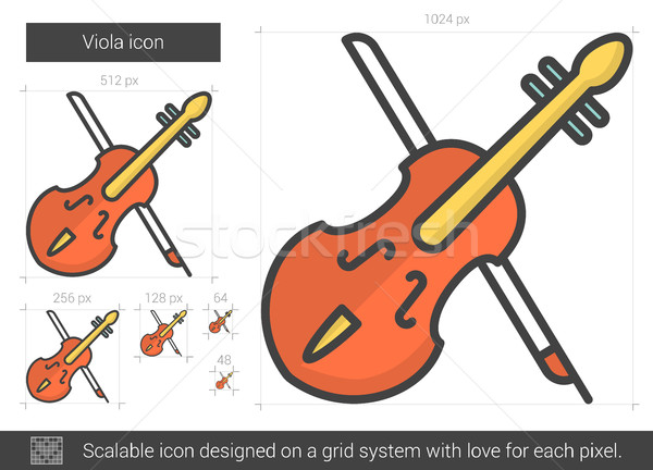 Viola line icon. Stock photo © RAStudio