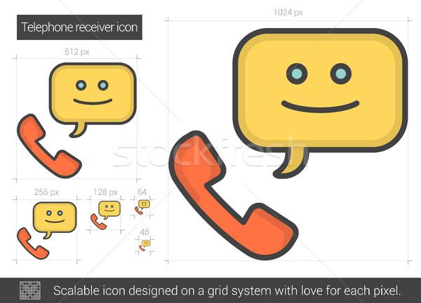 Telephone receiver line icon. Stock photo © RAStudio