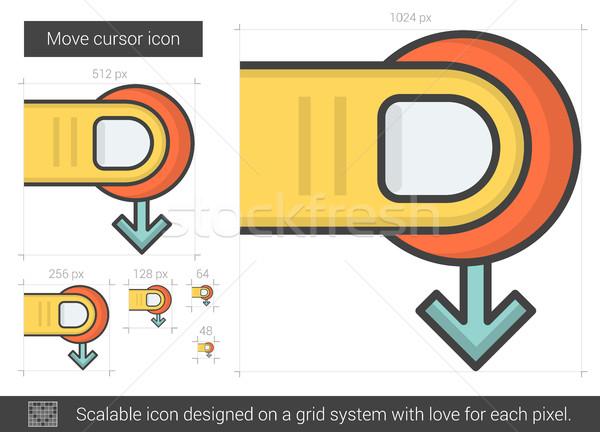 Mover cursor linha ícone vetor isolado Foto stock © RAStudio