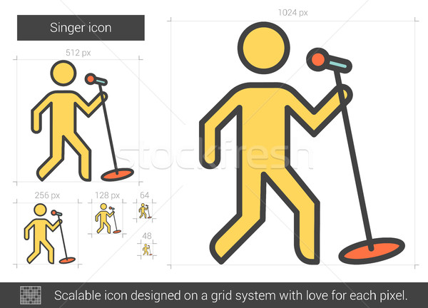 Singer line icon. Stock photo © RAStudio