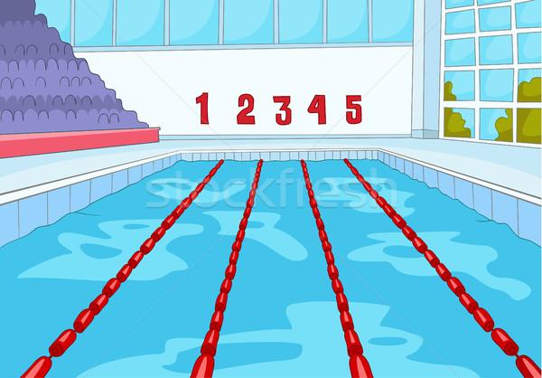 Cartoon piscina dibujado a mano deporte infraestructura Foto stock © RAStudio