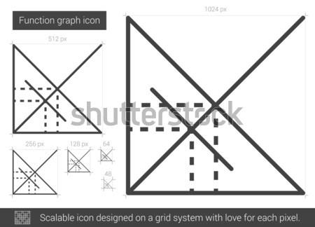 Fonksiyon grafik hat ikon vektör yalıtılmış Stok fotoğraf © RAStudio
