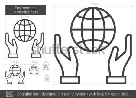 Environment protection line icon. Stock photo © RAStudio