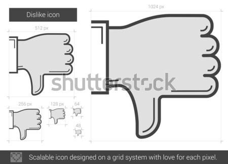 Sevmemek hat ikon vektör yalıtılmış beyaz Stok fotoğraf © RAStudio