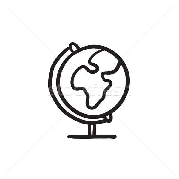 World globe on stand sketch icon. Stock photo © RAStudio