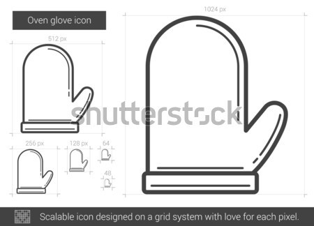 Oven glove line icon. Stock photo © RAStudio