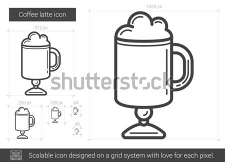 Coffee latte line icon. Stock photo © RAStudio