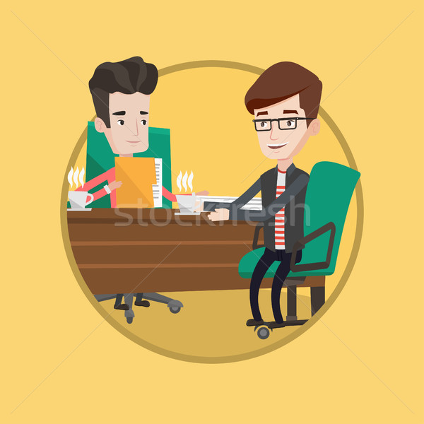 Two businessmen during business meeting. Stock photo © RAStudio