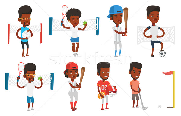 Stock photo: Vector set of sport characters.