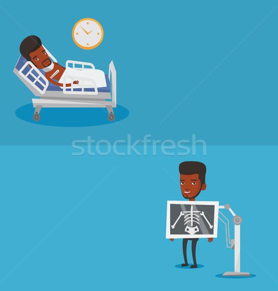 Twee medische banners ruimte tekst vector Stockfoto © RAStudio