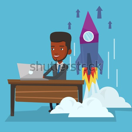 Successful business start up vector illustration. Stock photo © RAStudio