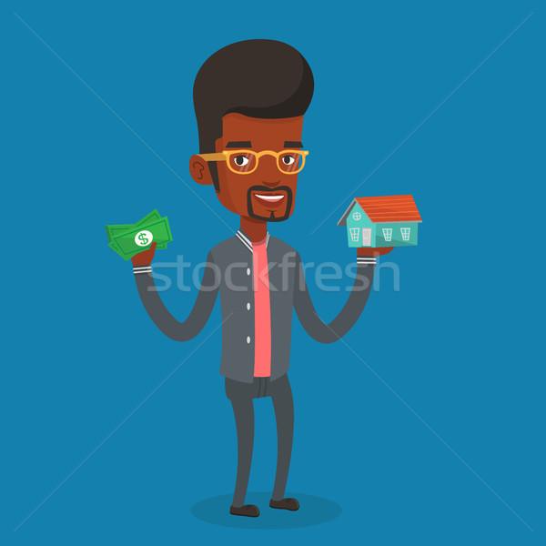 Nő vásárol ház köszönet kölcsön férfi Stock fotó © RAStudio
