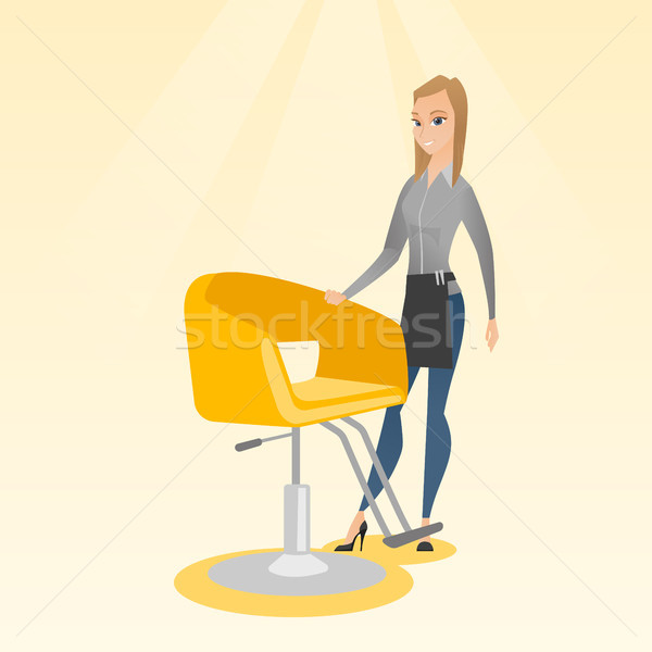 Hairdresser at workplace in barber shop. Stock photo © RAStudio