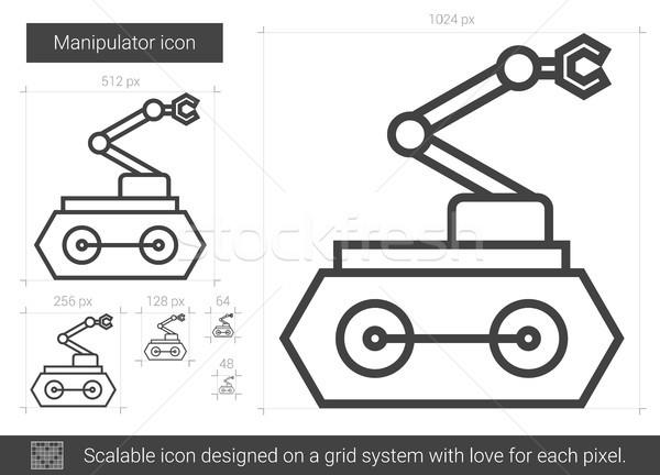 Foto stock: Línea · icono · vector · aislado · blanco · infografía