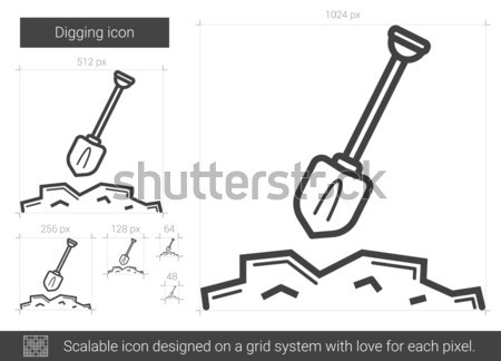 Digging line icon. Stock photo © RAStudio