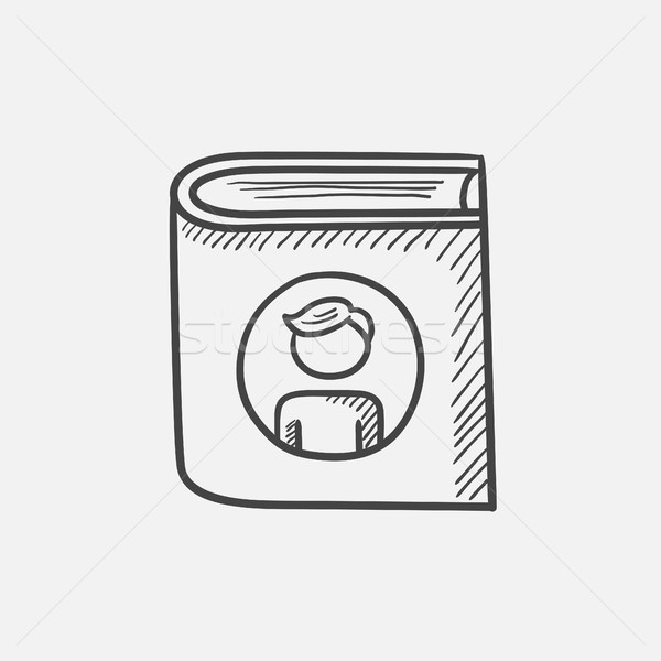 家族 アルバム スケッチ アイコン ウェブ 携帯 ストックフォト © RAStudio