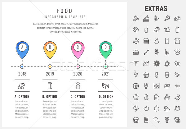 żywności szablon elementy ikona timeline Zdjęcia stock © RAStudio