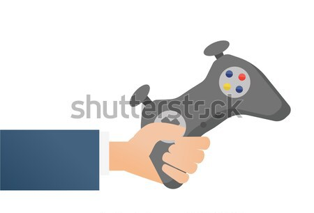Hand holding a wireless gaming controller. Stock photo © RAStudio