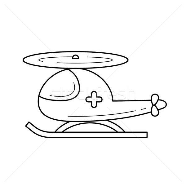 Redding helikopter lijn icon lucht ambulance Stockfoto © RAStudio