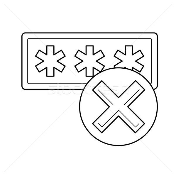 Inloggen lijn icon vector geïsoleerd witte Stockfoto © RAStudio