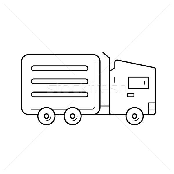 Refrigerator van line icon. Stock photo © RAStudio