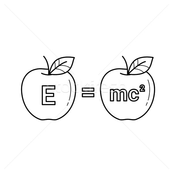 E equal mc 2 vector line icon. Stock photo © RAStudio