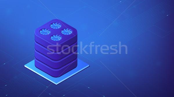Isometric data warehouse illustration. Stock photo © RAStudio