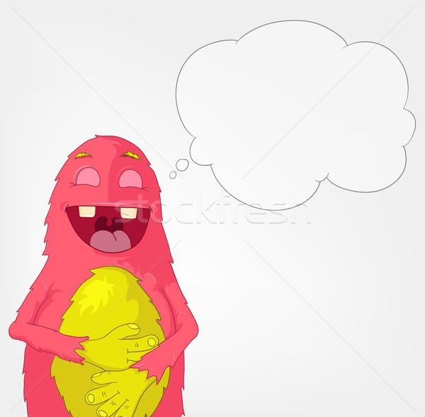 Funny Monster. Laughing. Stock photo © RAStudio
