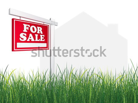 Stok fotoğraf: Satış · sahip · gayrimenkul · imzalamak · ev · ev