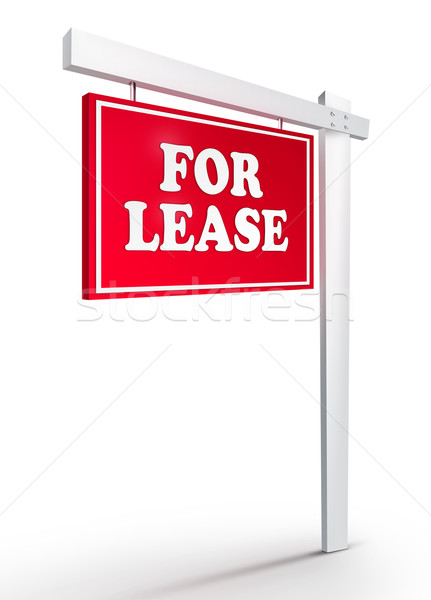 Real Estate Sign - For Lease  Stock photo © RAStudio
