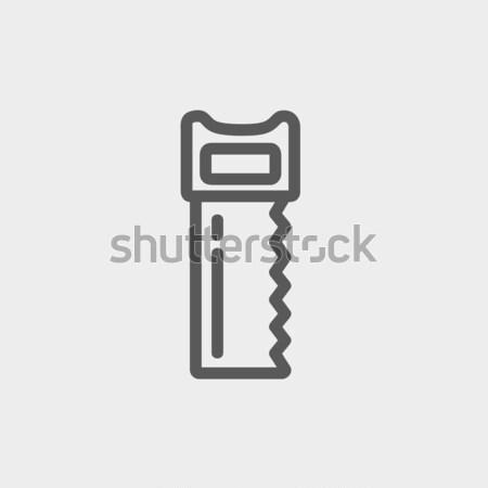 Hacksaw thin line icon Stock photo © RAStudio