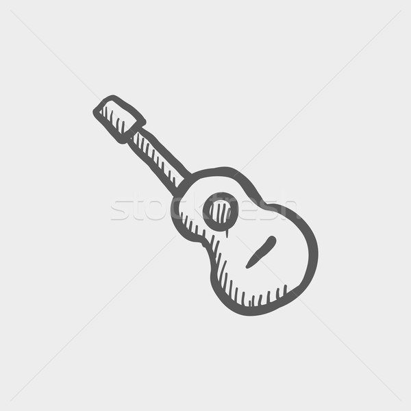 Acoustic guitar sketch icon Stock photo © RAStudio