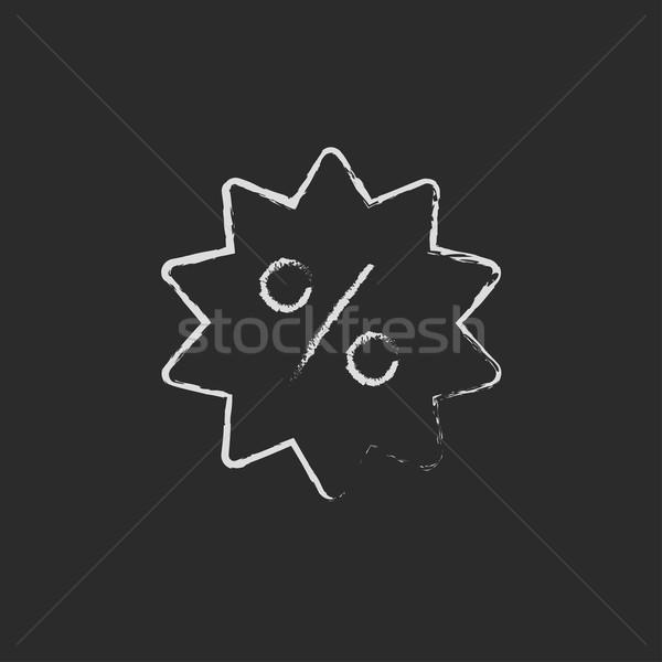 Discount tag icon drawn in chalk. Stock photo © RAStudio