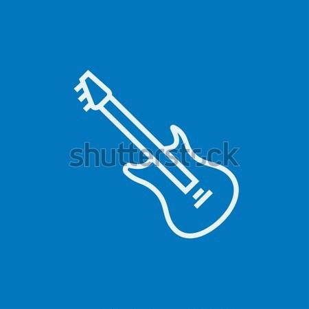 Cello icon drawn in chalk. Stock photo © RAStudio